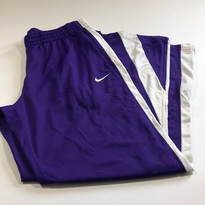 Women's Nike track pants purple and white  a11